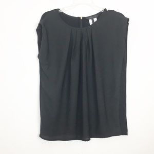 BCBG | black zip back top size small